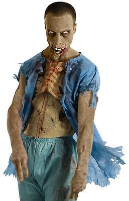 Zombie Hospital Patient Shirt Walking Dead Fancy Dress Halloween Adult Costume