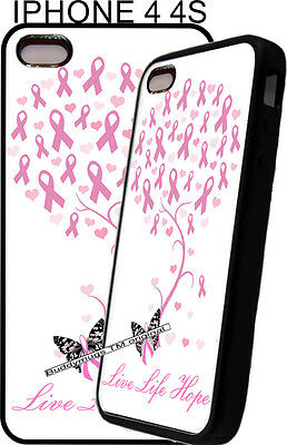 Apple Pink Ribbon - For Apple IPhone 4s 5s 6 7 Pink Womens Breast Cancer Ribbon Phone Case Cover 5