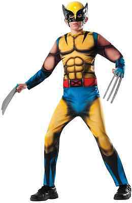 erhero X-Men Fancy Dress Up Halloween Deluxe Child Costume (Deluxe Wolverine Kostüm)