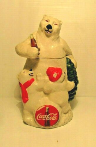 Vintage Coca Cola Polar Bear Stein Collectible Rare
