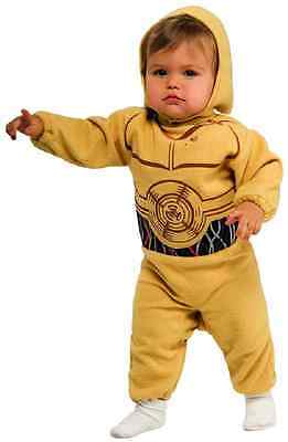 C-3PO Star Wars Droid Robot Dress Up Halloween Baby Infant Toddler Child Costume