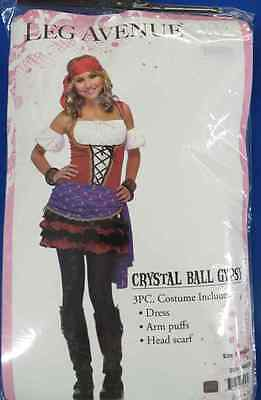 Crystal Ball Gypsy Fortune Teller Pirate Girl Fancy Dress Halloween Teen - Gypsy Girl Kostüm Halloween