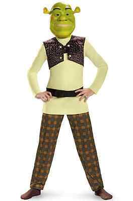 Shrek Classic Ogre Cartoon Movie Mike Myers Fancy Dress Halloween Child Costume