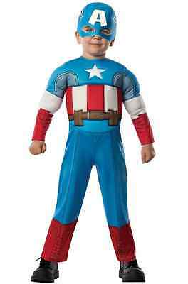 Captain America Baby Halloween Costume (Captain America Marvel Avengers Superhero Muscle Halloween Toddler Child)