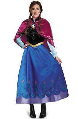 Anna Travelling Prestige Disney Frozen Fancy Dress Up Halloween Adult Costume