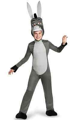 Donkey Deluxe Shrek Animal Gray Cartoon Fancy Dress Up Halloween Child Costume - Shrek Donkey Halloween Costume