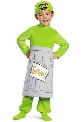 Oscar the Grouch Sesame Street Fancy Dress Halloween Baby Toddler Child Costume