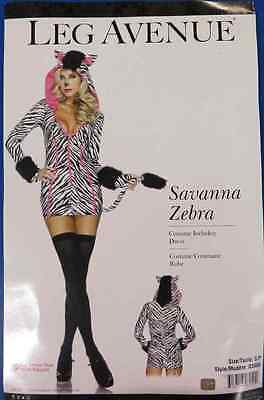 Savanna Zebra Jungle Safari Animal Fancy Dress Up Halloween Sexy Adult Costume](Safari Halloween Costume)