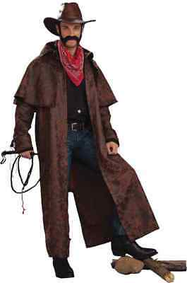 Tex Wild Western Cowboy Sheriff Duster Fancy Dress Halloween Costume - Western Sheriff Costume Men