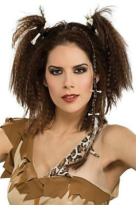 Hair Braid Accessory Stone Age Cave Girl Fancy Dress Halloween Costume Accessory](Brown Haired Girl Halloween Costume)