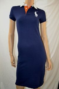 Ralph-Lauren-NAVY-RUGBY-POLO-DRESS-WHITE-BIG-PONY-198-VALUE-NWT-XS