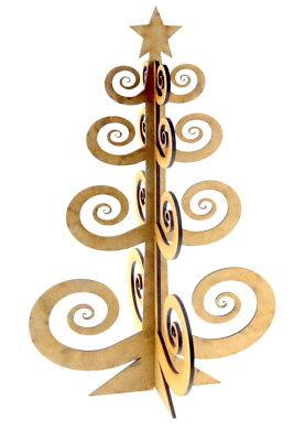 groß freistehend 3D Weihnachtsbaum Holzern BASTELN ORNAMENT