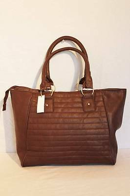 NEW Womens Fashion Purse Handbag PU Brown Quilted Hobo Bag Shoulder Tote Large - New Quilted Handbag