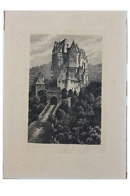 Paul Bürck - Burg Eltz , Original-Radierung
