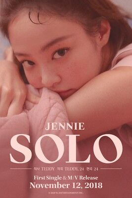BLACKPINK JENNIE [SOLO] PHOTOBOOK CD+Photo Book+Post Card+Card K-POP SEALED