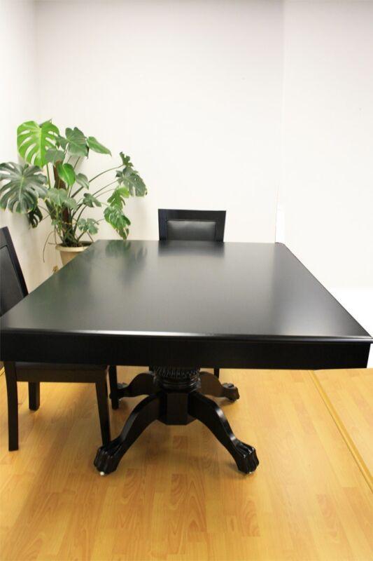 Luxury MRC Poker Table MINI MONARCH Black Solid Wood Legs Plus Dining Table Top