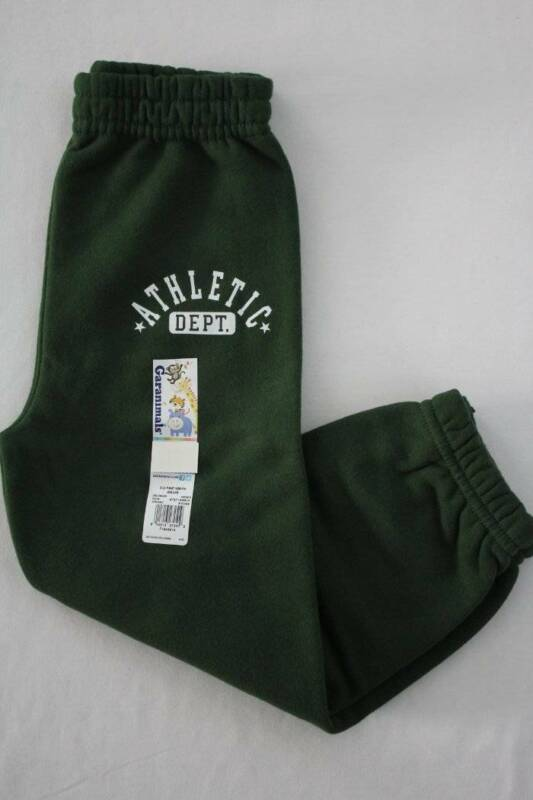 NEW Toddler Boys Pants Size 2T Fleece Jogger Green Sweatpants Garanimals Sweats