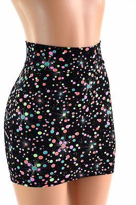 SMALL Galactic Gumball Spandex Bodycon Mini Skirt Clubwear Ready to Ship!