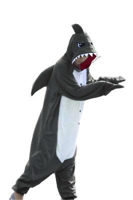 WOTOGOLD Animal Kigurumi One Piece Cosplay Costume Shark Unisex Adult Pajamas  - Shark Adult Costume