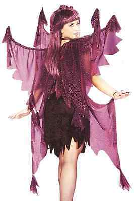 Nightmare Fairy Wings Gothic Fancy Dress Up Halloween Adult Costume Accessory