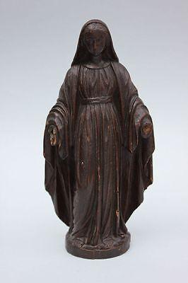 Heiligenfigur , Madonna , Lindenholz ungefaßt, wohl 19.Jahrhundert