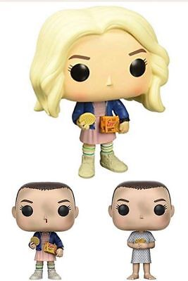 3Funko POP! TV Stranger Things Eleven In Wig w/ Eggos Chase Variant Vinyl Figure