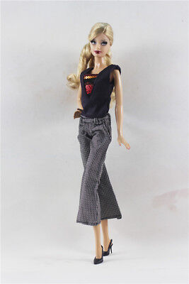 2in1 Set Fashion Outfit T-shirt Vest Top +Pants FOR 11.5in.Doll Clothes ()
