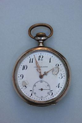 Silberne Taschenuhr mit behelmtem Wappenschild, um 1900 - Union Horlogére
