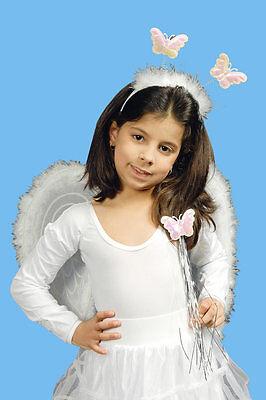 Engelsflügel Kostüm weiß Kinder Flügel Fee Engel Kostüm Karneval (Weiße Engel Flügel Kostüm)