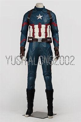 vil War The Avengers Steve Rogers cosplay Kostüm Halloween 2 (Captain America Avengers Kostüm 2)