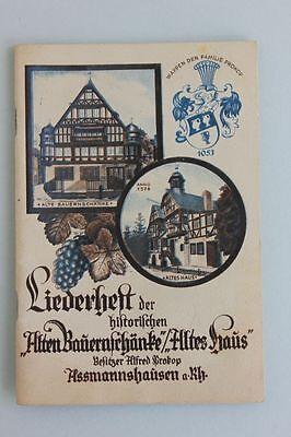 Prokop, Alfred (Besitzer) - Liederheft der historischen 'Alten Bauernschänke'