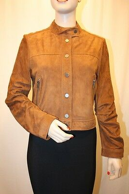 NEW BCBG MAX AZRIA Ginger Suede Leather Jacket SIZE M