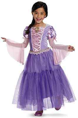 Rapunzel Disney Princess Tangled Fancy Dress Up Halloween Deluxe Child - Disney Dress Up Costumes