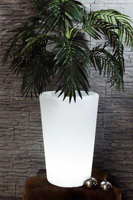 Beleuchteter Blumentopf 60x40 cm mit Fernbedienung Blumenkübel LED RGB Sektkübel