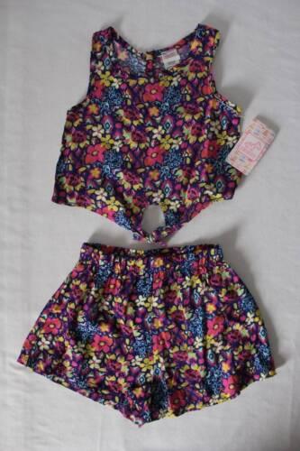NEW Girls 2 Piece Set Size 12 Months Tank Top Shirt Shorts O