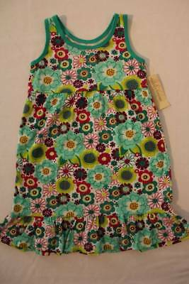 NEW Girls Sleeveless Dress Size XS 4 - 5 Party Outfit Green Floral - Girls Green Dresses