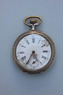 Silberne Taschenuhr , um 1900