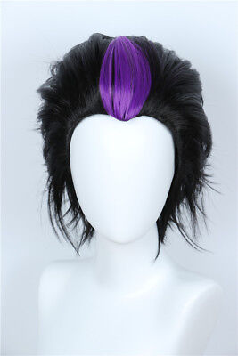 Homestuck Eridan Ampora Black Layered Wig Cosplay Halloween Costume Wig](Homestuck Halloween)
