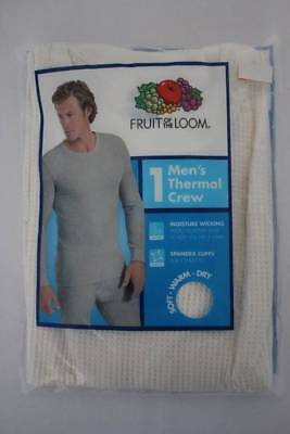 - Mens Thermal Underwear Waffle Knit Shirt Large Off-White Top Long Johns Wicking
