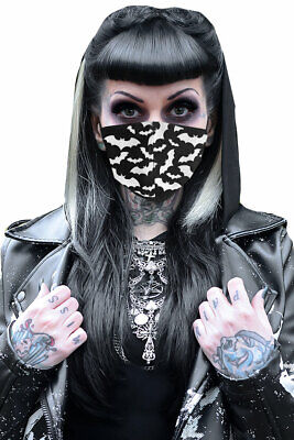 Mad Moonshine Maske White - Maskerade Maske Schwarz