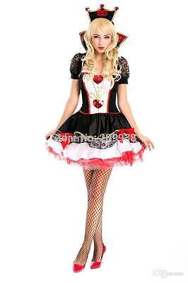 Halloween Queen Of Hearts (Ladies Adult Queen Of Hearts Costume Woman Halloween Queen of Hearts Fancy)