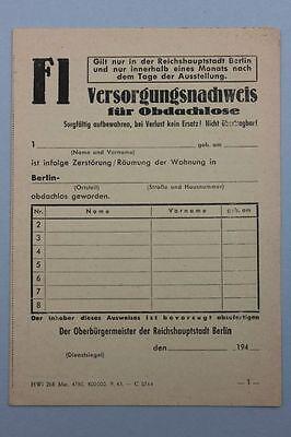 Berlin - Versorgungsnachweis für Obdachlose