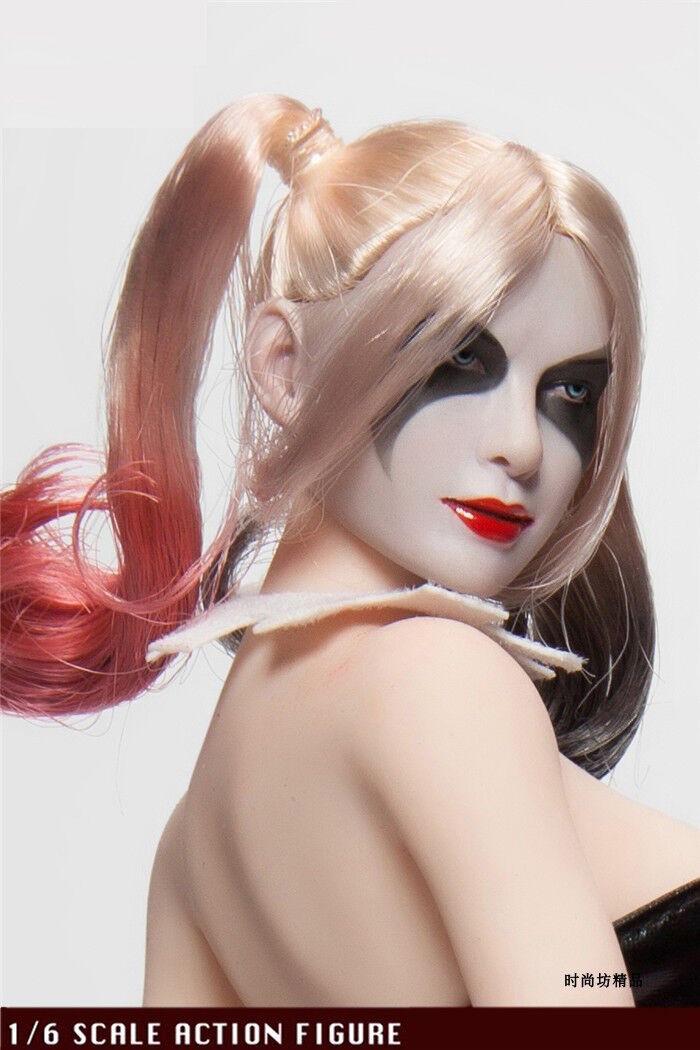 1//6 CUSTOM Harley Quinn Suicide Squad Head Sculpt For Phicen Female Figure ❶USA❶