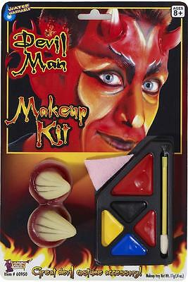 Devil Man Makeup Kit Demon Satan Fancy Dress Up Halloween Costume - Halloween Man Makeup
