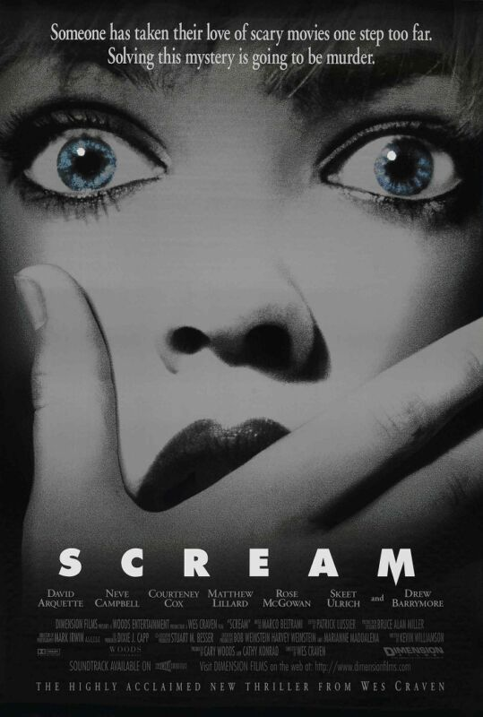 Scream movie poster print (a) Wes Craven, Horror  -  11 x 17 inches
