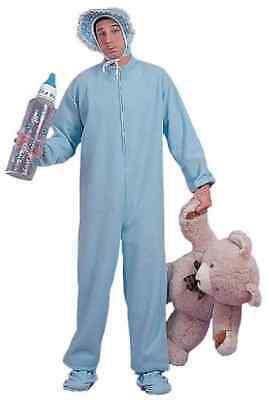 Blue Adult Jammies Big Baby Boy Pajamas Pyjamas Fancy Dress Up Halloween Costume