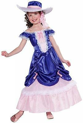 Blossom Southern Belle Gown Civil War Fancy Dress Up Halloween Child Costume (Child Southern Belle Halloween Costumes)