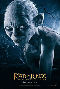 LORD-OF-THE-RINGS-Gollum-SIGNED-AUTOGRAPH-MOVIE-POSTER-A2-594-x-420mm