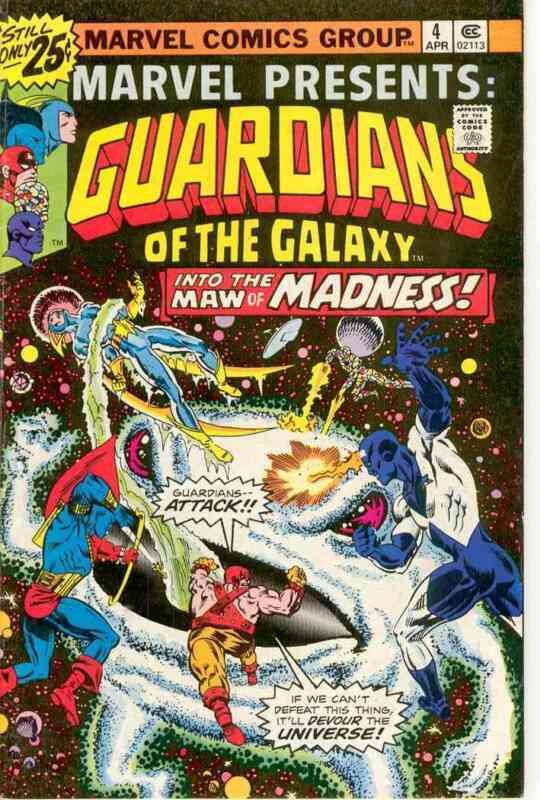 MARVEL PRESENTS GUARDIANS OF THE GALAXY #4  VERY FINE 1975