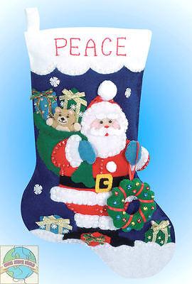 Felt Embroidery Kit Design Works Santa's Gifts Christmas Stocking Dw5065